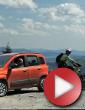 Video: Fiat Panda vs. Biker