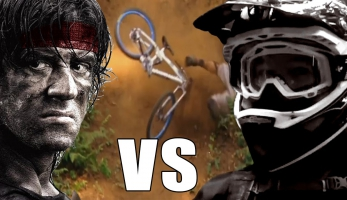 Video: Rambo 5 vs Downhill