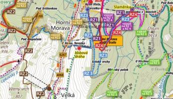 Mapa finále Scott Enduro X Race na Dolní Moravě
