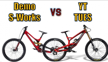 Video: srovnání Specialized Demo S-works vs. YT Tues (2016, 650B)