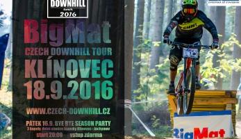 Pozvánka a video: BigMat Czech Downhill Tour 2016 Klínovec - Final Race