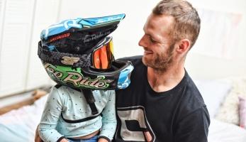 Přemek Tejchman má helmu se super airbrushem