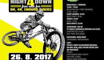 Pozvánka: Night 4 Down Špičák - premiérový fourcross na Špičáku