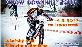 Snow Downhill Sprint Petrůvka 2017 - zimní sjezdové závody na začátku února
