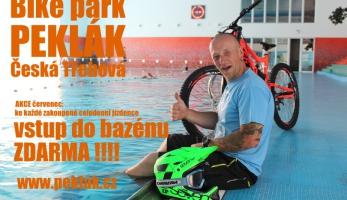 Bikepark Peklák - k permici zadarmo vstup do bazénu