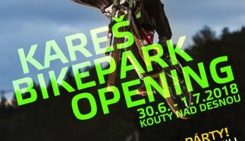 Pozvánka: Oficiální otvíračka Bikeparku Kareš - první prázdninový víkend