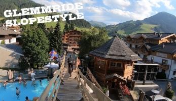 Video: Kuba Vencl - Slopestyle přes bazén a balkóny hotelu - Glemmride 2019