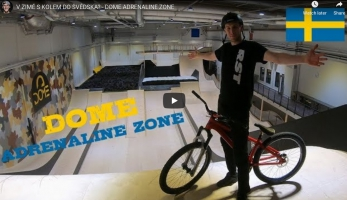 Video: Kuba Vencl - s kolem v zimě do Švédska? Do Dome Adrenaline Zone ano!