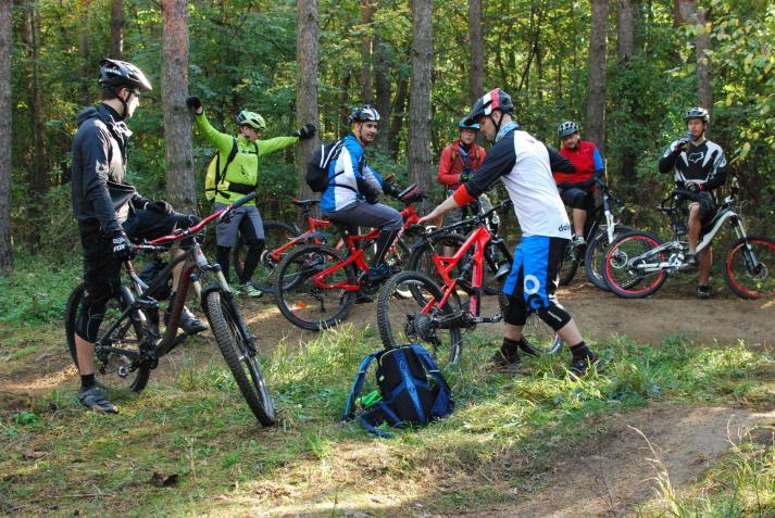 Škola jízdy - začátečníci - bikepark Peklák
